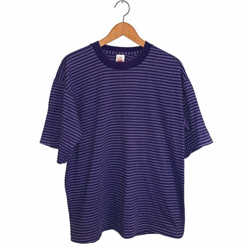 2724444157 @midwestgals. 2 months ago. Wisconsin Dells, United States. 💜 vintage 90's  Fruit of The Loom purple colorway striped tee ...