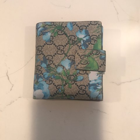 411fbac05d6 Authentic GG Blooms french flap wallet retail   520 before - Depop