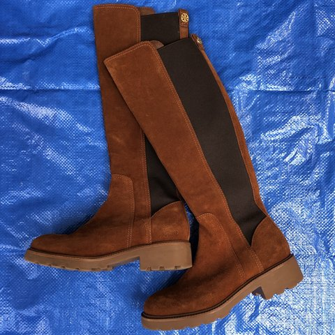 a6989afce Tory Burch knee high suede brown boots women s size 6 barely - Depop