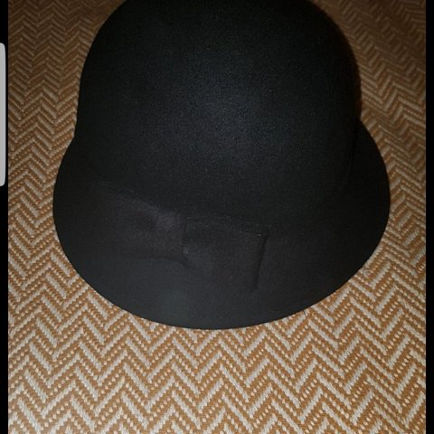 57647d608dd Wool Hat Colour  Black Size  M Buyer collects only - Depop