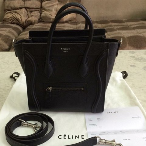 c297c5550b19 Brand new Celine nano luggage bag. Black pebbled (grain) bag - Depop
