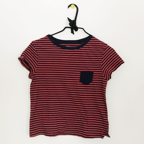 3a889de7c4 @maybayz. last year. New Canaan, United States. navy red and white striped  tee shirt from urban outfitters ! ...