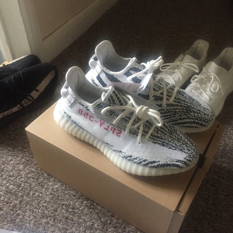 """80d9d9f842d23 Yeezy 350 boost """"zebra"""" brand new no swaps price can be if - Depop"""