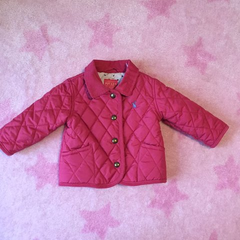 33e8708d3 Baby girl Joules padded coat pink Mabel quilted jacket Worn - Depop