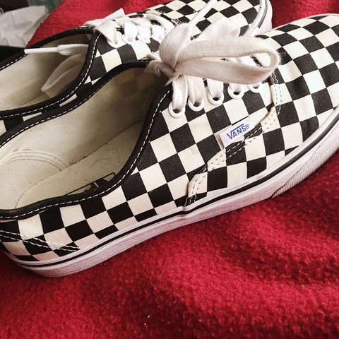 58096ec9d1cee3 Checkered canvas vans. I bought them on depop and LOVE them - Depop