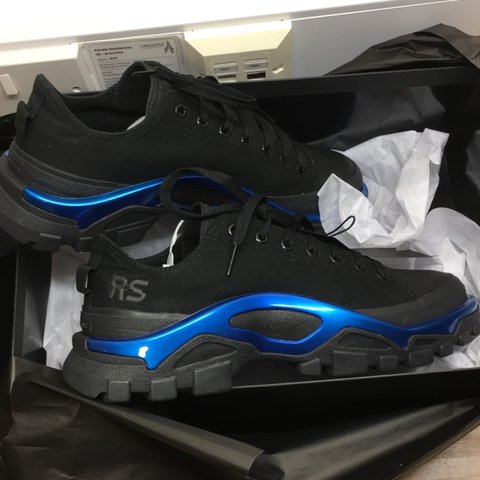 830ddceac6d9 Raf Simons Detroit Runner in metallic blue   black. Size new - Depop