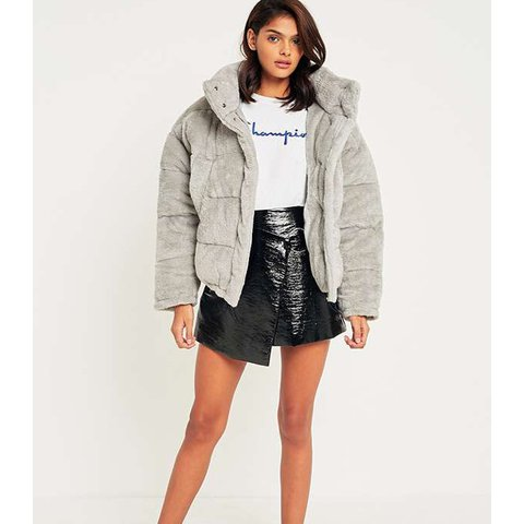 9930faee3 Urban outfitters light before dark grey puffer jacket in New - Depop
