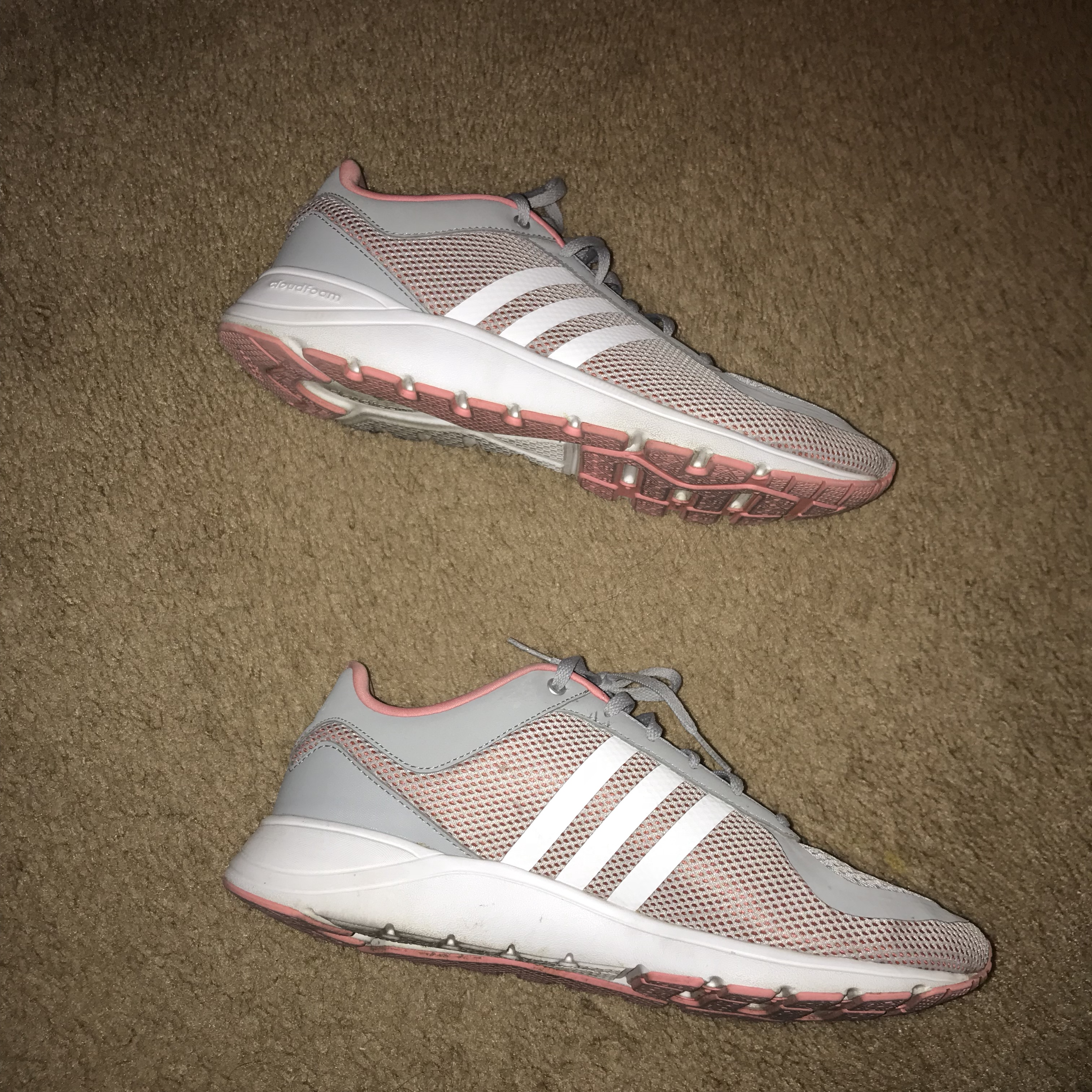 Pink and gray adidas cloudfoam metis. Size 10. Quite...