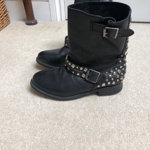 River island leather biker boots size 6