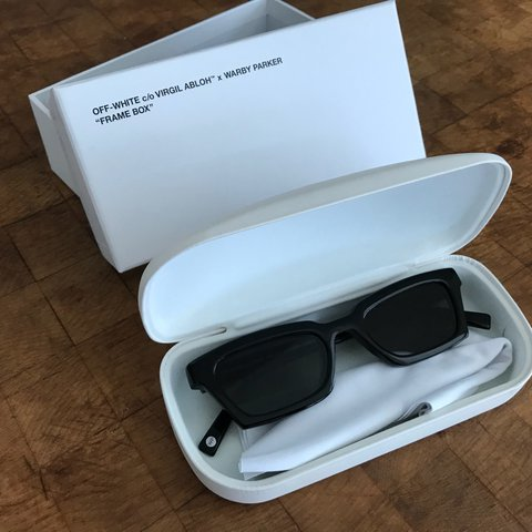 5ad829fb1667c Off-White c o Virgil Abloh x Warby Parker SMALL sunglasses. - Depop