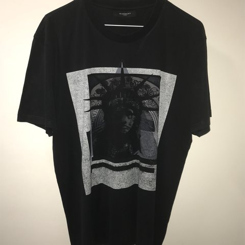 a156b275c Mens Givenchy T shirt black with Statue of Liberty print