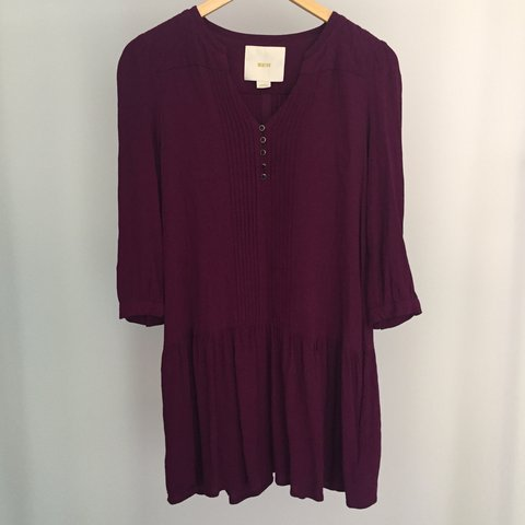 093be0122632 @cellophaneflowers. 20 days ago. Toronto, Canada. Anthropologie Maeve  purple dress size XS Worn once.