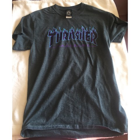 71b3077ddb52 @socalledlife. 2 years ago. Five Mile Township, United States. 🔥Thrasher  Flame Logo T-Shirt in Dark Heather ...