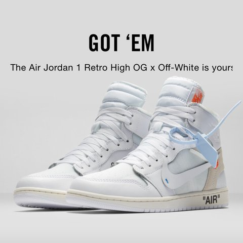 8b4ca9edda60 Air Jordan 1 Retro High OG x Off White