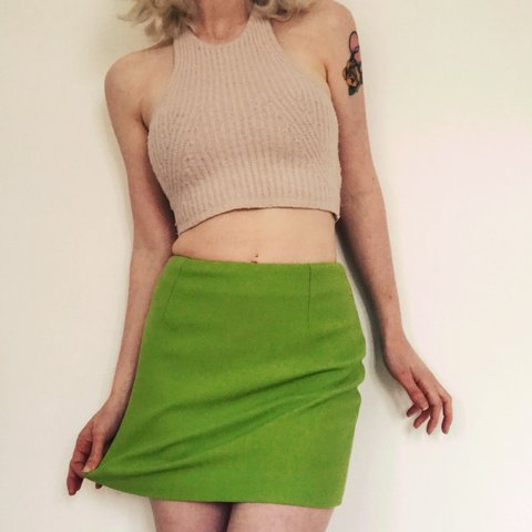 df8c1747aea @kathryn_hewitson. 2 years ago. London, United Kingdom. Vintage Karen  Millen apple green mini skirt. Super short ...