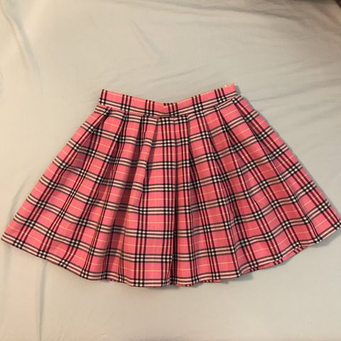 62d4a2350cc2 @rleemis. last year. Winter Springs, United States. New without tags Dolls  Kill pink plaid pleated mini skirt!