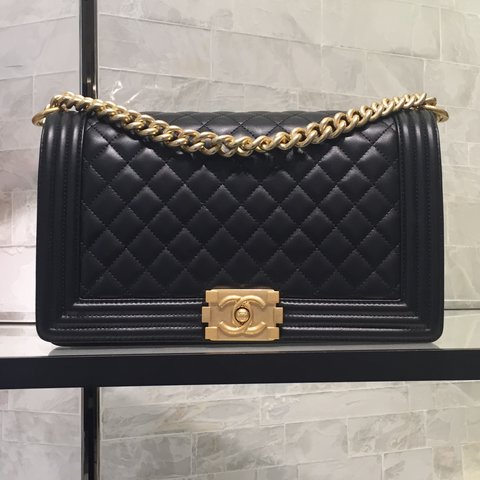 eb37d05368fb Brand new in box 100% Authentic Chanel Boy Flap Bag New in x - Depop