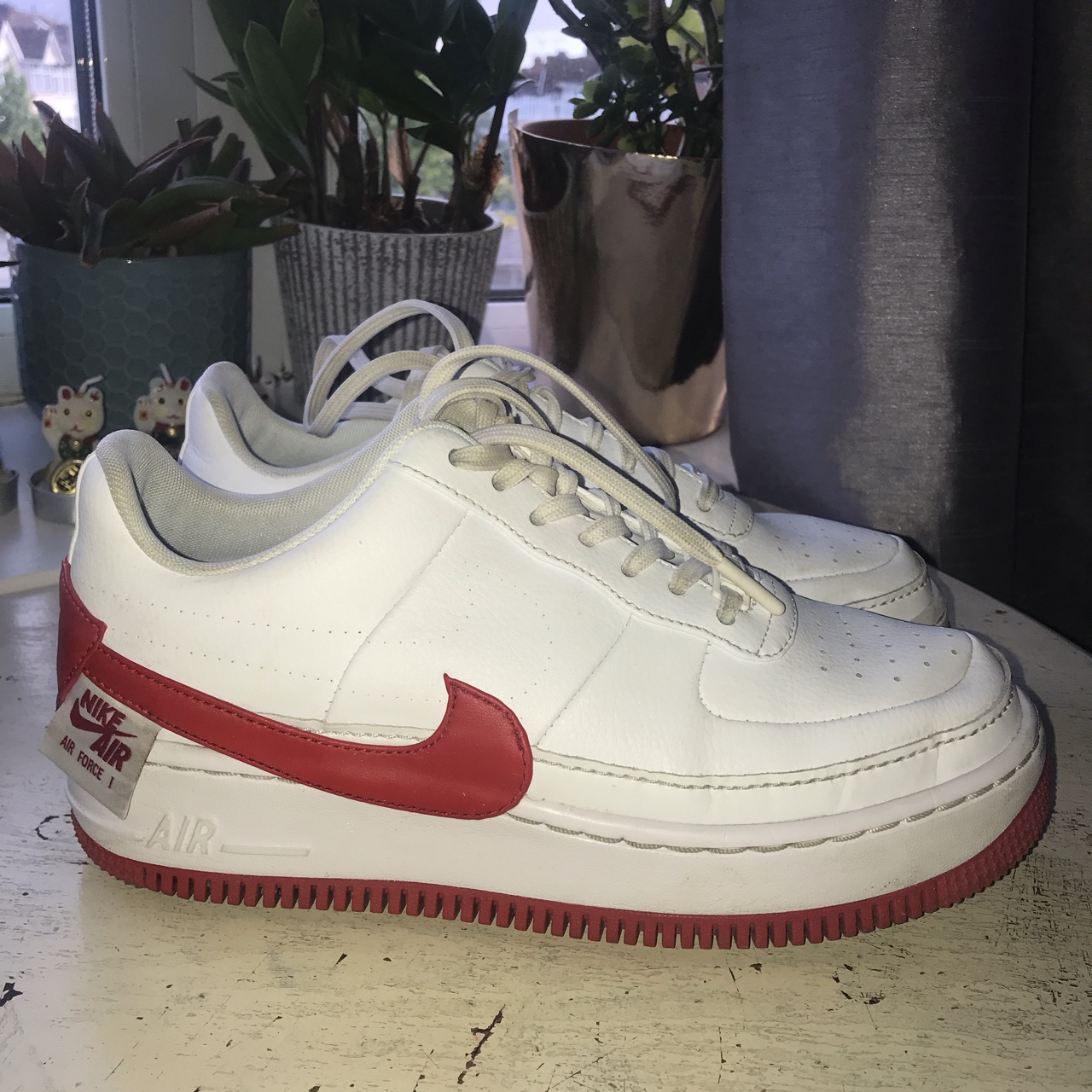 best service 05d1f 42f89 Nike Air Force 1 Jester XX Colourway: white and red... - Depop