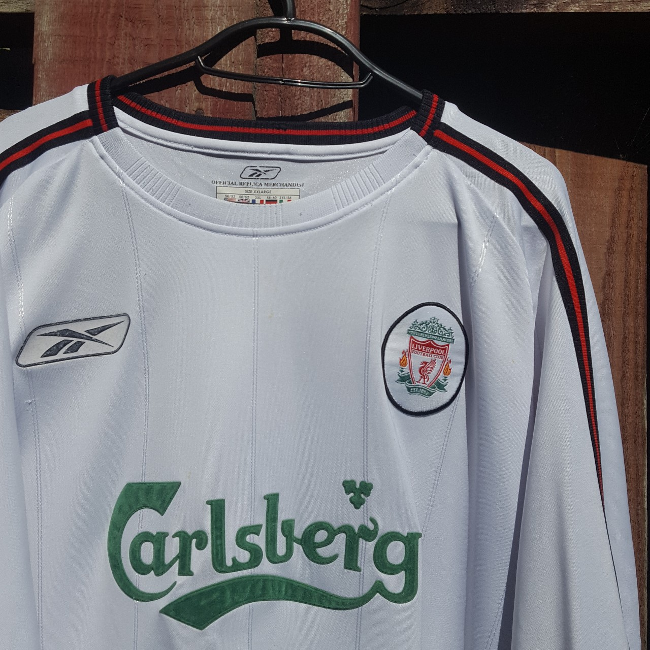 low priced ec3b9 74c50 Vintage Liverpool kit - iconic carlsberg sponsor... - Depop