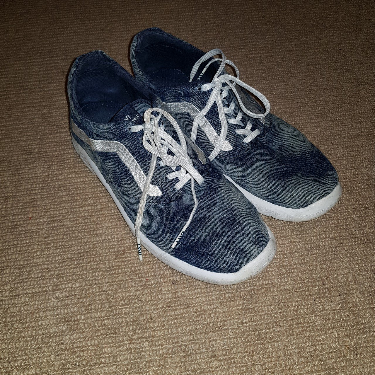 6722ba5c45291f Rare pair of vans shoes with marble effect them in good of depop jpg  1280x1280 Rare