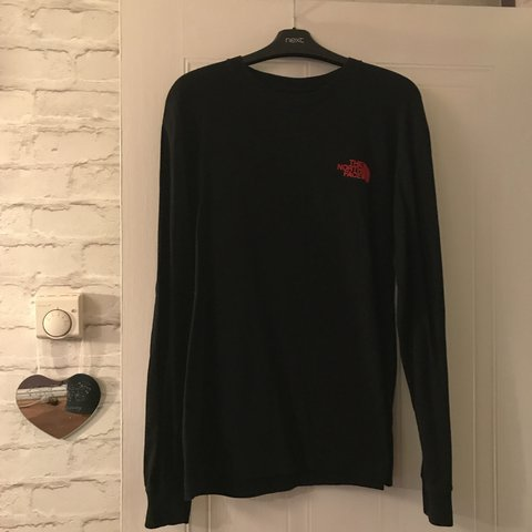 The North Face black long sleeved t shirt. Label says small - Depop 8750813d2