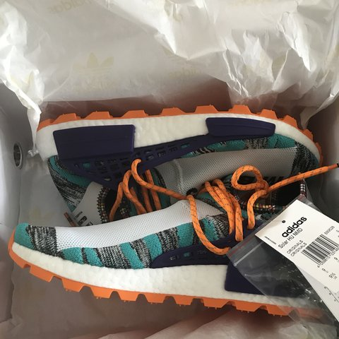 da2c8124e PHARRELL WILLIAMS HUMAN RACES SOLAR HU AQUA SIZE 9 UK BOUGHT - Depop