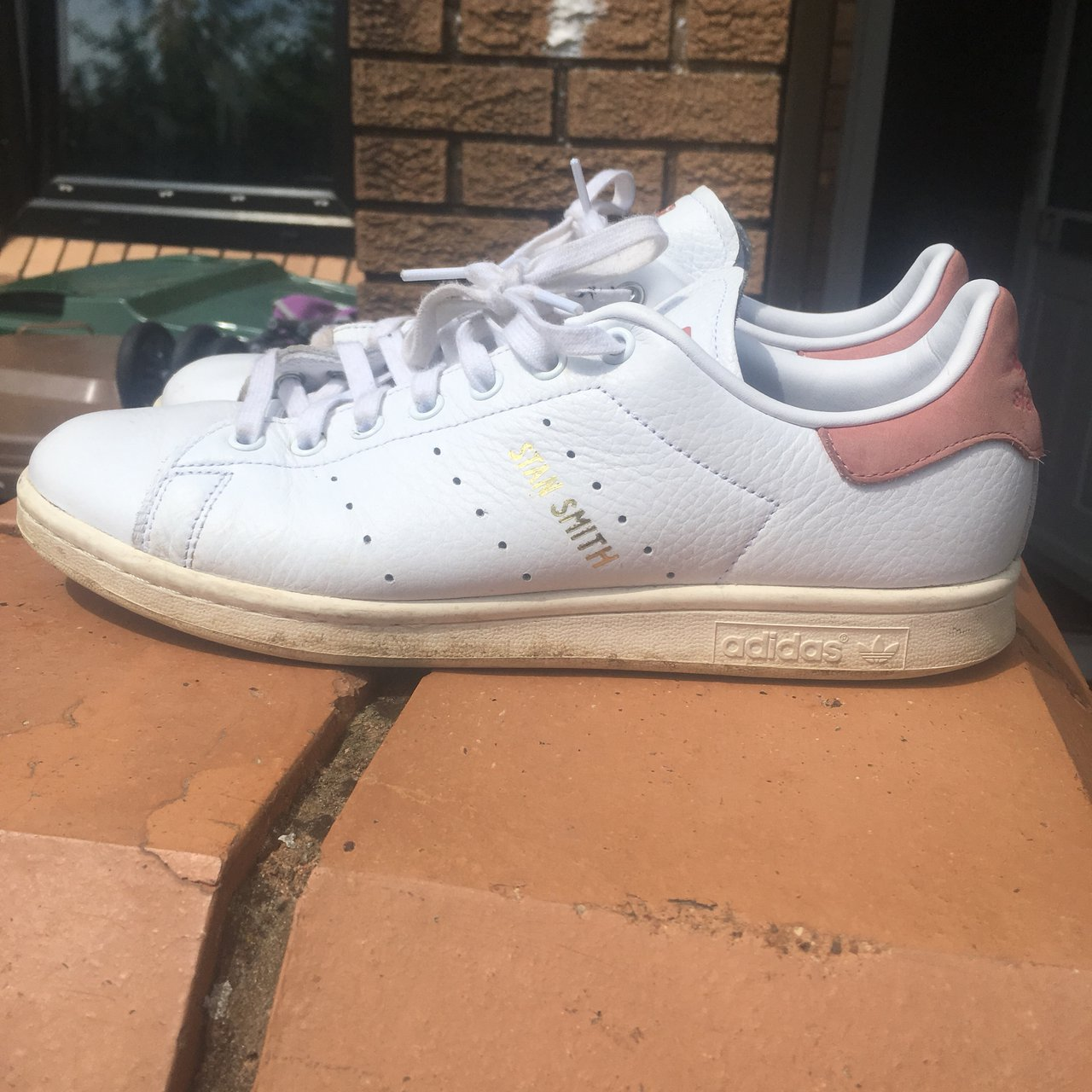 Adidas Stan Smith - 7 10 condition due to the two marks - If - Depop 280e7ac40