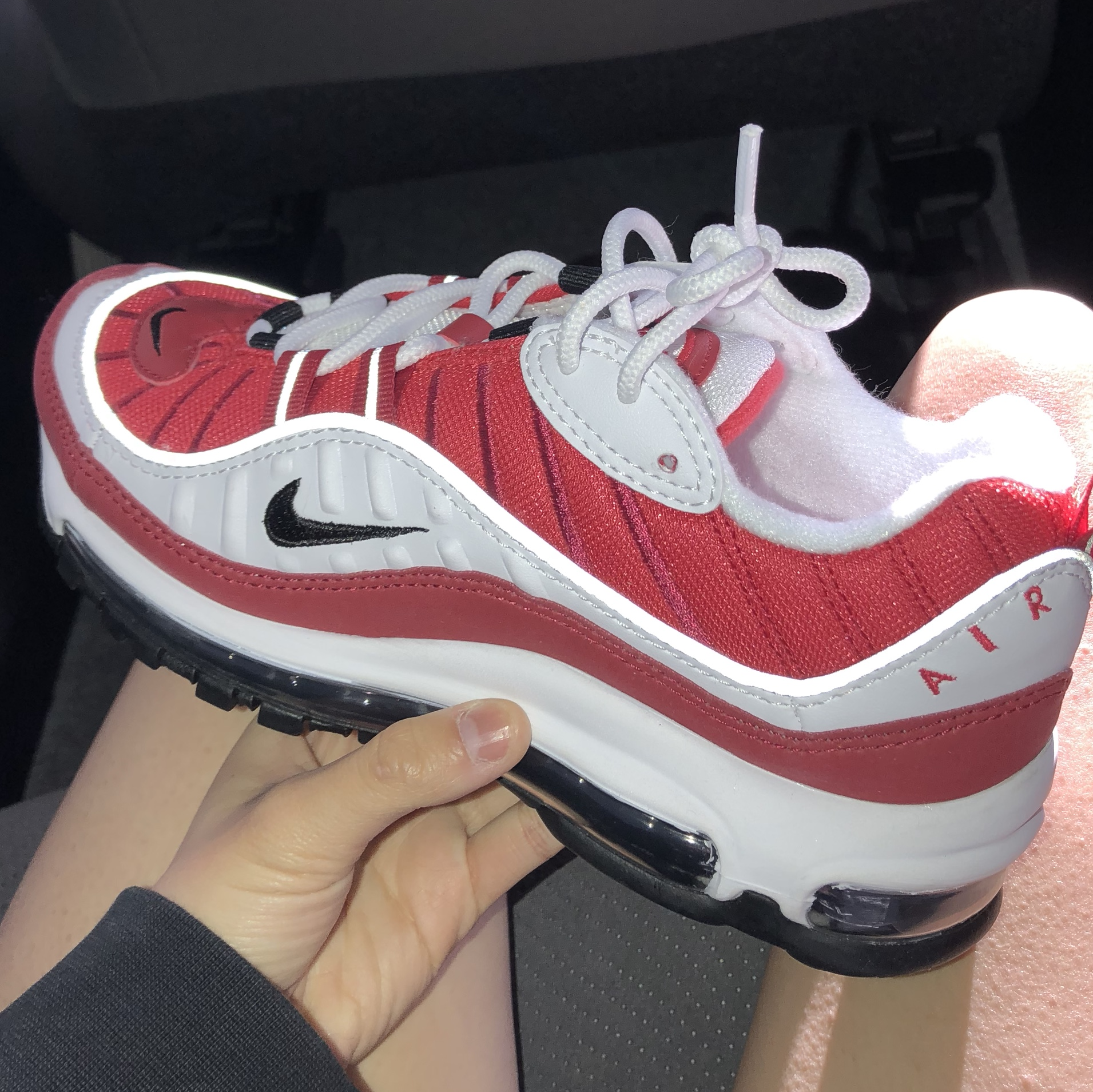 separation shoes e99d3 07ffb women's nike air max 98 gym red size 6 used, no box,... - Depop
