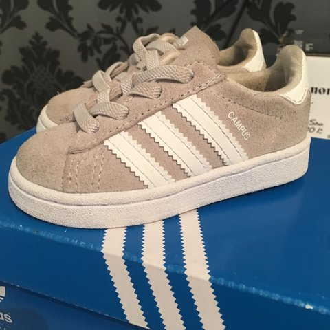 283f86357cfd Adidas size 4 near enough perfect condition only been worn a - Depop