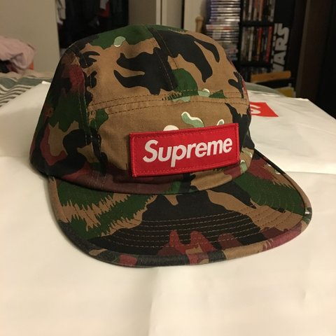0c610b7535e19d @urdad66. last year. Taylor, United States. Supreme Military Camp Cap Swiss  Camo. Excellent condition.