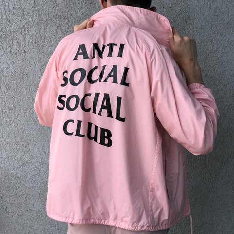 029e552e50c7 💒 ANTI SOCIAL SOCIAL CLUB 💒 pale pink assc coaches jacket - Depop