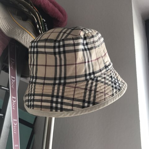 55687e71ea2 authentic childrens burberry nova check bucket hat! tag 52 - Depop