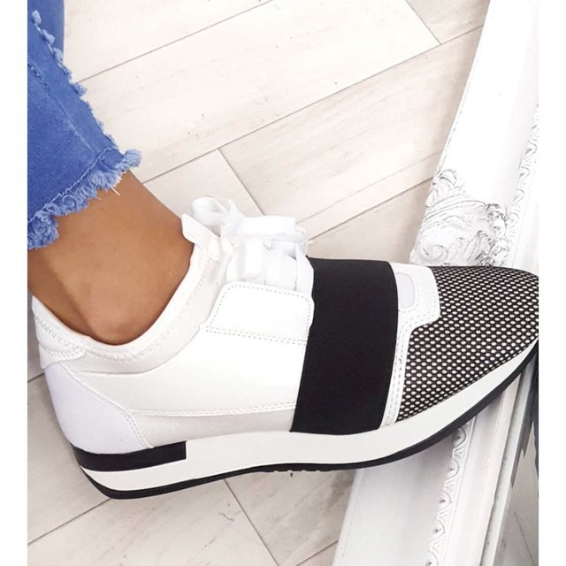 Bali Mesh Two Toned Panel Trainers in
