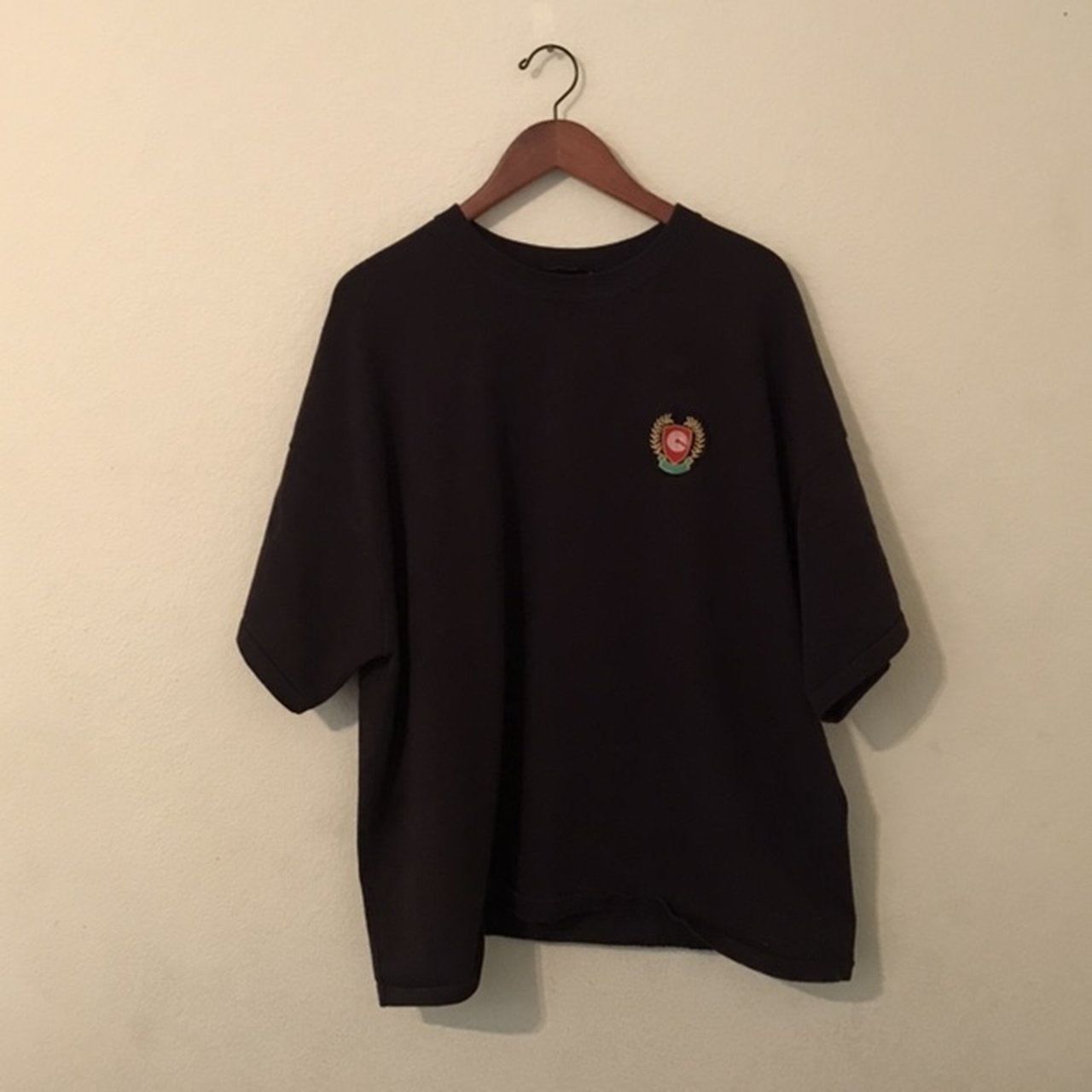 693e7509 Yeezy Season 5 Calabasas Patch Tee. TAG SAYS M BUT DUE TO TO - Depop