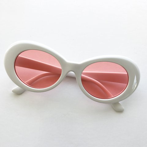 42e51dae33 white red tinted cobain clout sunglasses