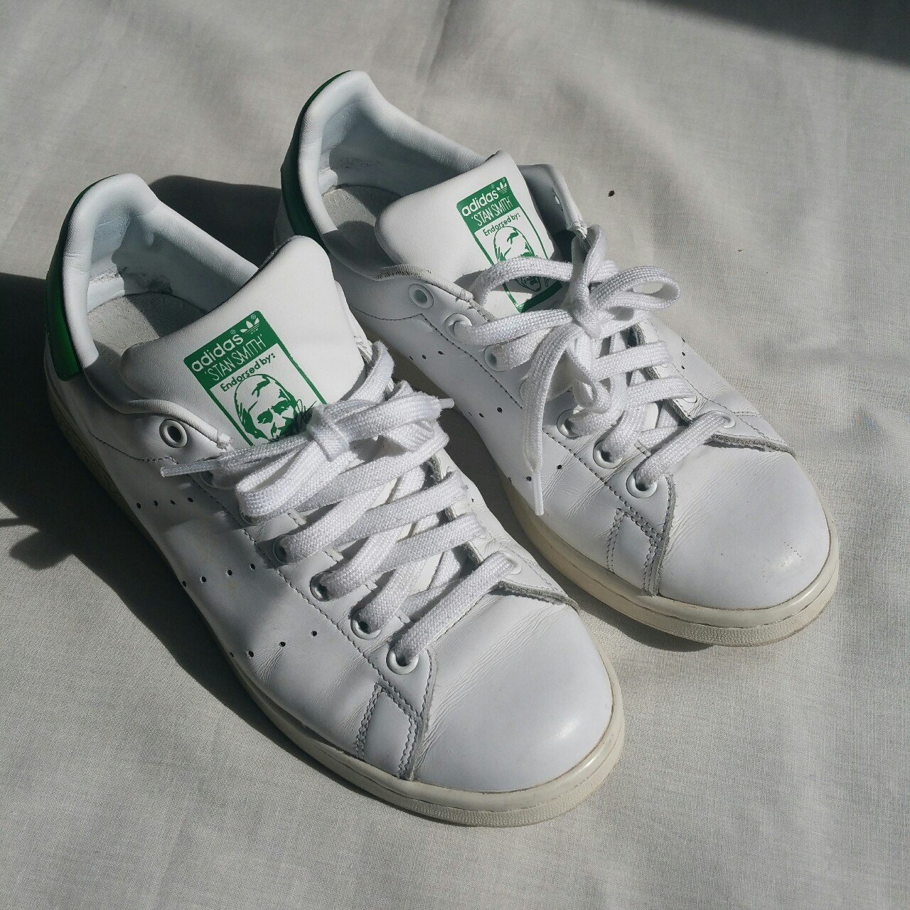 Adidas Stan Smith White Green Trainers - UK 8 65e7e67b0
