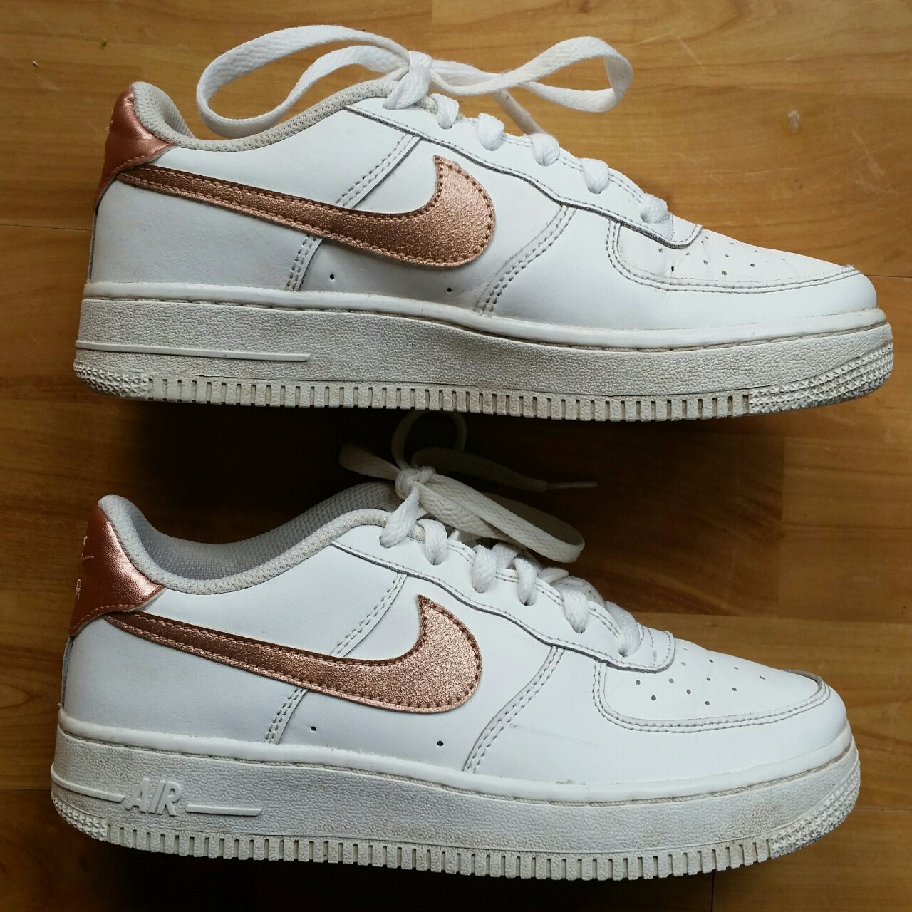 Nike Air Force 1 One White Rose Gold