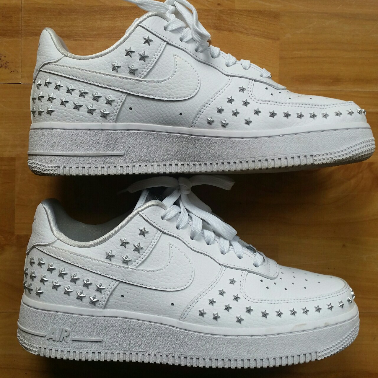Nike Air Force 1 One White Star Studded