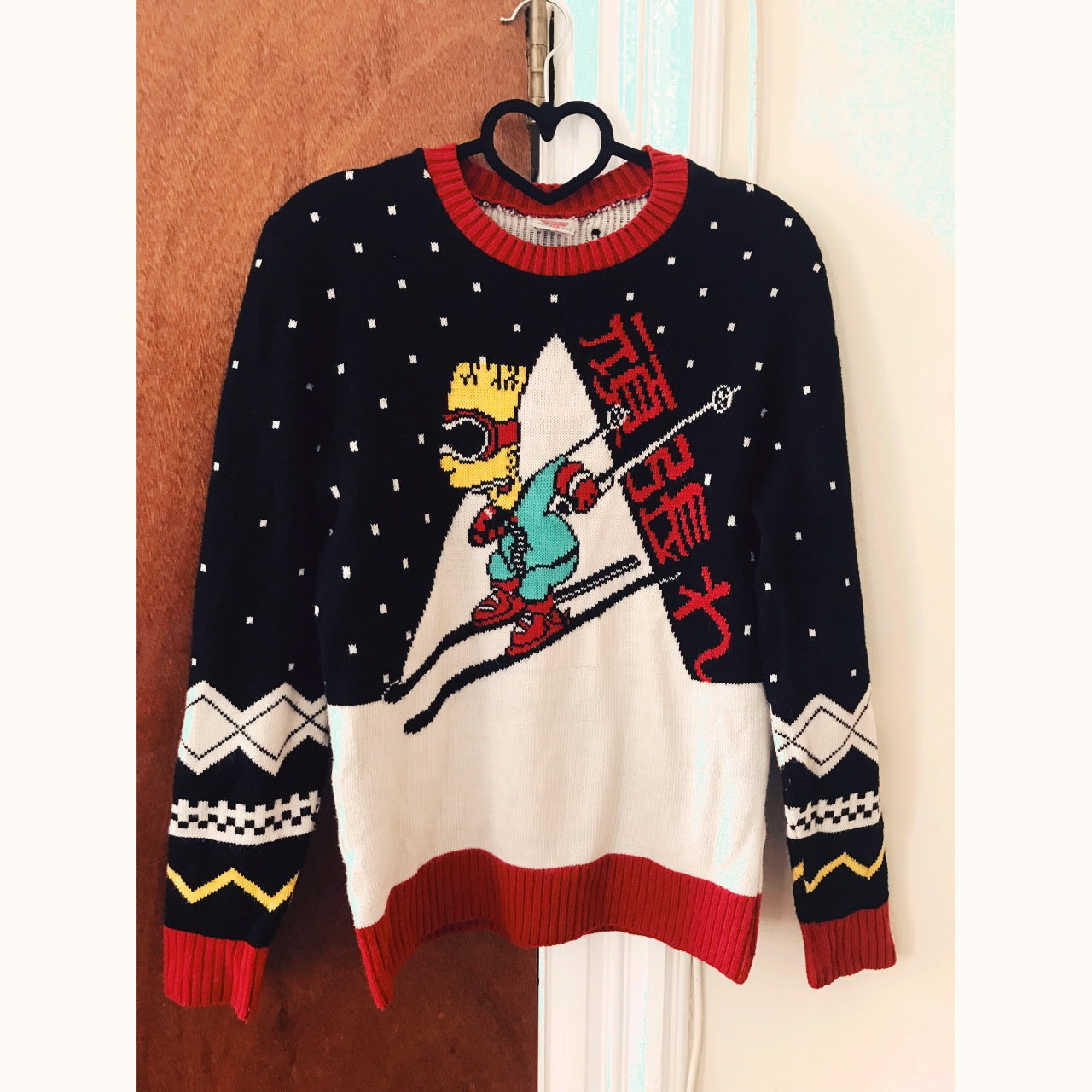 Urban Outfitters Ugly Christmas Sweater.Junk Food Bart Simpson Ugly Christmas Sweater Depop