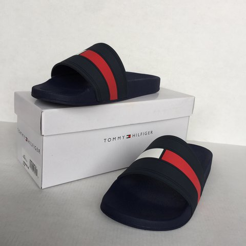 2c2caa414 Authentic, new with tags (NWT), Tommy Hilfiger slides. They - Depop