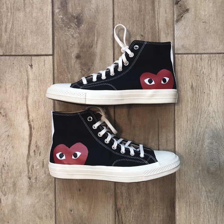 CDG CONVERSE BLACK HIGH TOPS Offers are