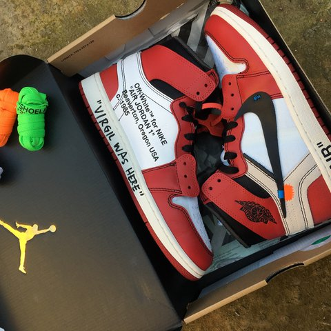 new style d636f 31103  jprentice8. 2 years ago. London, UK. Off White Jordan 1, Personally signed  by Virgil ...
