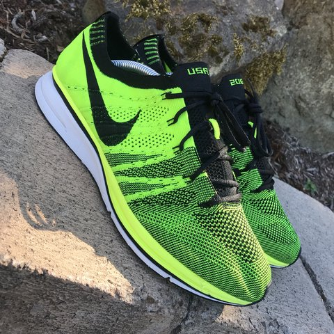 732d5dfce869 Very Rare  nike Flyknit Trainer USA Look See Sample. Never - Depop