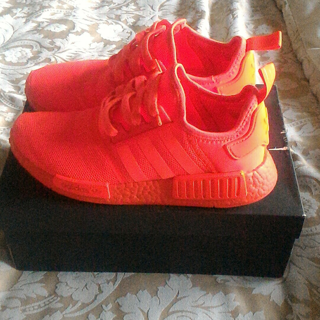 Adidas Nmd R1 Solar Red Uk 7 In 8 5 10 Condition Depop