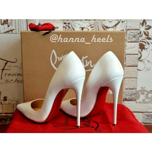 31cbc4d935 Christian Louboutin So Kate white patent Available in size - Depop