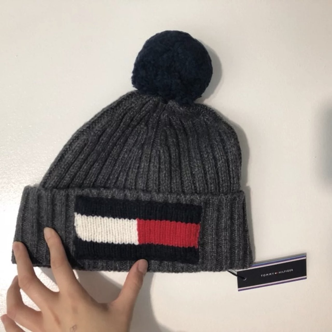 f7ce3102928 Tommy Hilfiger Logo Beanie New with tag Never been  winter - Depop