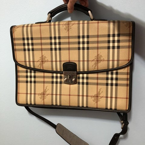a3ef6b674033 Burberry Authentic Briefcase Authentic Burberry can  fashion - Depop