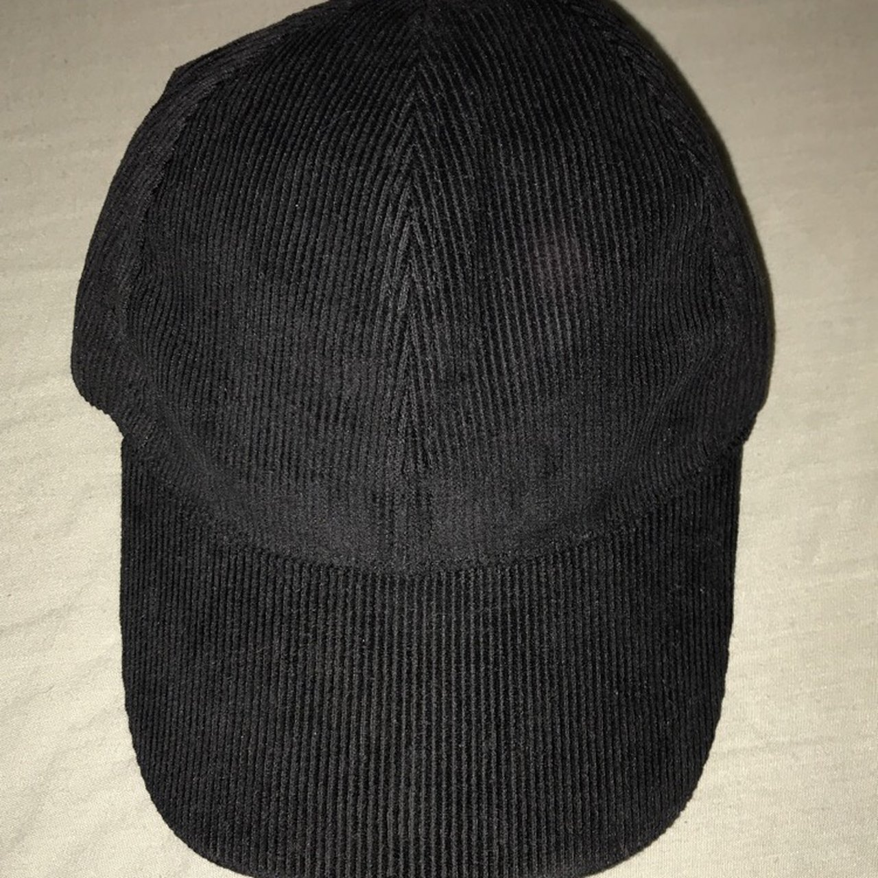 debc834e26d brand new black corduroy hat. one size fits all. perfect - Depop