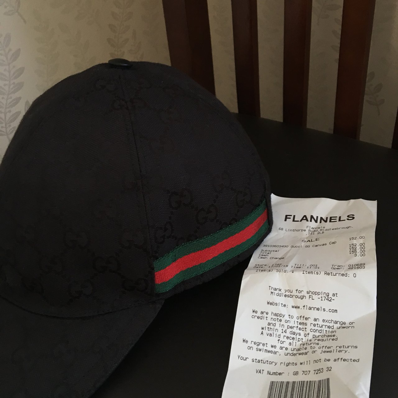Gucci GG Canvas Cap 573cd062595