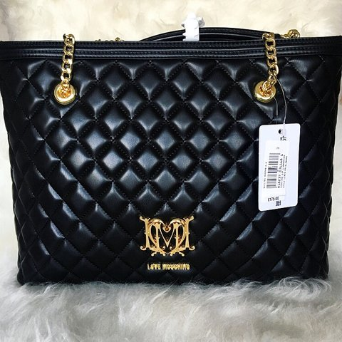 a962ec9c973 🖤 LOVE MOSCHINO 🖤 Black Quilted Shopper Bag • Synthetic • - Depop